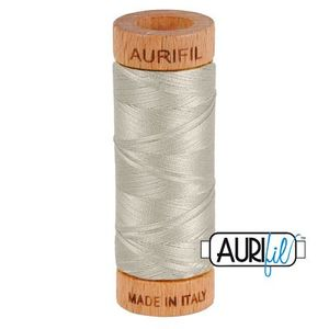 Aurifil 1080-5021 Cotton Mako Thread, 80wt 280m LIGHT GRAY