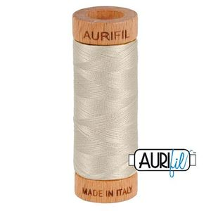 Aurifil 1080-6725 Cotton Mako Thread, 80wt 280m MOONDUST