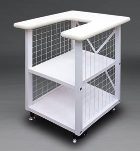 98867: Juki Tajima Stand SAI on 4 Heavy Duty Roller Casters for 8 Needle Embroidery Machine