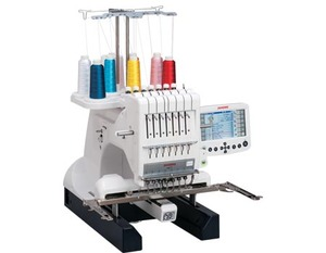 "98872: Janome MB7 Big M Bobbin 7-Needle 7.9x9.5"" Micro Embroidery Machine"