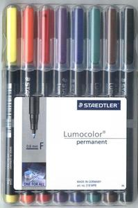 Staedler 318WP8 Lumocolor Permanent Fine Point Pens with Case