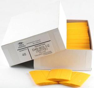 EW White Diamond D48-903-1/2 Tailor's Squares Crayons, 48 Ct. Yellow
