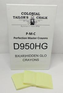 Colonial Tailor's Chalk D950HG Hidden Glo Invisible-Flourescent Crayons, 48 Ct.