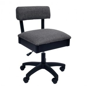 Arrow H8140 Swivel Chair, Underseat Storage, Lady Gray Fabric
