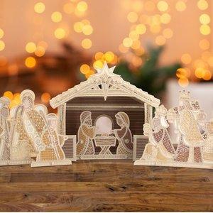 OESD 12817CDFS Freestanding Nativity Scene CD
