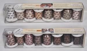 Robison-Anton GGR201_ Skintones Thread Pack, 8 Mini-King 1,100 yd. 40wt Spools—Choose Light-Medium or Medium-Dark Package