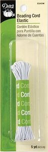 Dritz DE9340W White Beading Cord Elastic 5yd