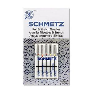 Schmetz 1853 Knit & Stretch Combo Pack of 5 Needles
