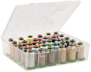 99219: Exquisite 30 Spool Storage Box Combo Special With Your Choice of 30 Colors 40wt Poly Embroidery Thread Mini King Cones