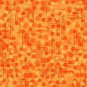Blank Quilting Jot Dot 9570 33 Orange