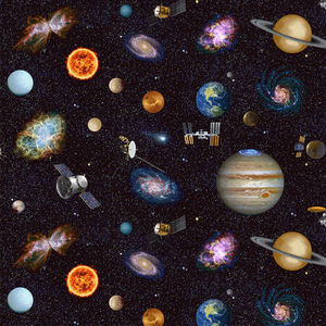 Studio E Planetary Missions 15303-97 Multi Outer Space