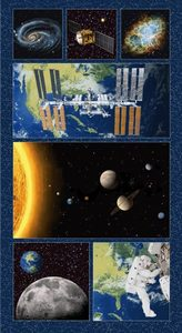 "Studio E Planetary Missions 5311P-79 Multi Large Blocks Panel 24"" x 44"""