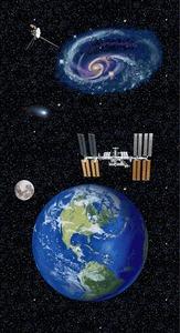 "Studio E Planetary Missions 5312P-97 Multi Earth Panel 24"" x 44"""