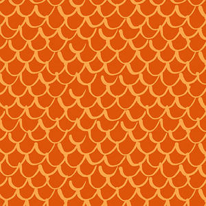 Blank Quilting Points of Hue 9989-33 Orange Scallop Geo
