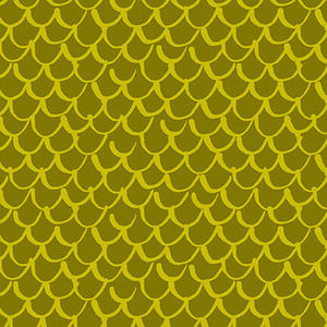 Blank Quilting Points of Hue 9989-60 Chartreuse Scallop Geo
