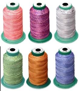 DIME HolMDTP001 Holiday Medley Variegated 6-Pack 1000m 40wt Poly Thread Kit
