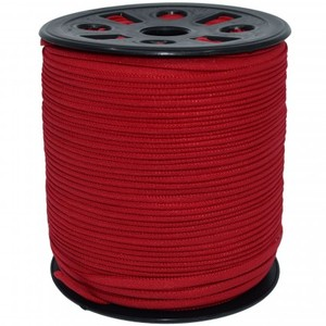 Banded Stretch Elastic GANEL-NB-RED Red- 1/6""