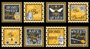 Blank Quilting Show Me The Honey 1337 44 Yellow