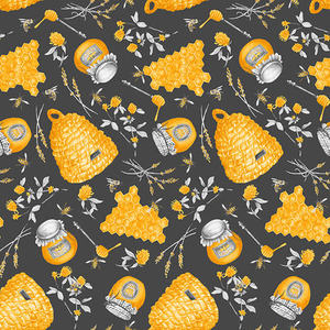 Blank Quilting Show Me The Honey 1339 95 Gray