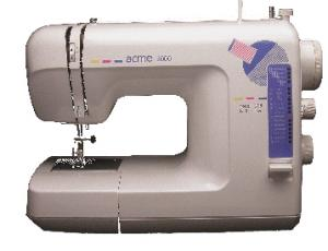 AlphaSew FA206 14 Stitch Free Arm Sewing Machine, 4 Snap On Feet, Buttonholes, like Singer Featherweight 132