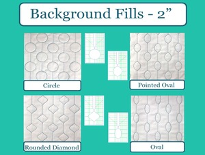 Sew Steady Westalee Background Fills Set by Sew Biz with Shank Options