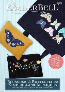 Kimberbell KD598 Blossoms and Butterflies: Kimberblank Appliques