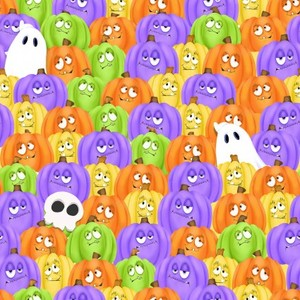 EE Schenck HEG9601G-35 Glow Ghosts Stacked Pumpkins and Ghosts - Glow in the Dark