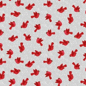 3 Wishes Fabric SEF5691-98 SNOW MERRY Tossed Birds