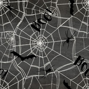 3 Wishes Fabric 3WI18112-CHR-CTN-D Spooky Night Webs