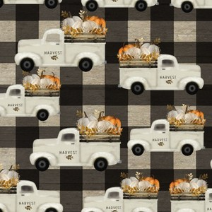 3 Wishes Fabric 3WI18118-MLT-CTN-D Happy Fall Truck