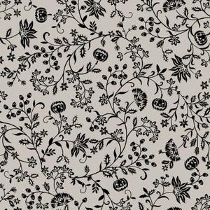 Studio E Fabrics SEF5725-19 Spooky Night Pumpkin Vine Lt. Gray