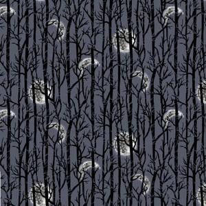 Studio E Fabrics SEF5726-97 SPOOKY NIGHT - MOONLIGHT TREES