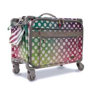 89119: Tutto 2007-DAHLIA Large Purple Dahlia Roller Bag on Wheels 21inL x 14inH x 12inD for your Sewing Machine