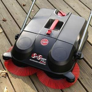 "Hoover L1405 Spin Sweep Pro Motorless Outdoor Sweeper, 21"" Wide Path"