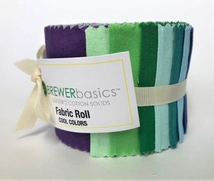 Brewer Basics Fabric Roll, Cool Colors