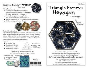 Artistically Engineered AED159 Triangle Frenzy Hexagon