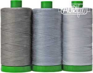 Aurifil AC40CP3-001 3 Pc. Color Builder Set, Sumatran Elephant