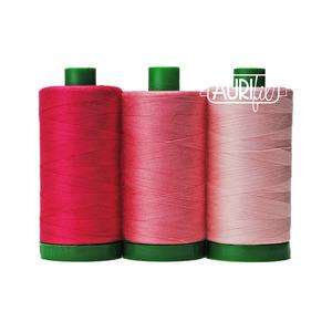 Aurifil AC40CP3-005 3 Pc. Color Builder Set, Pink Land Iguana