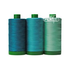 Aurifil AC40CP3-008 3 Pc. Color Builder Set, Blue-Throated Macaw