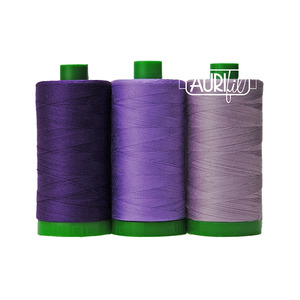 Aurifil AC40CP3-010 3 Pc. Color Builder Set, Cross River Gorilla