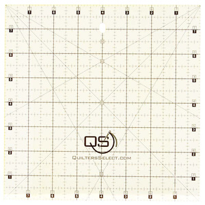 """Quilters Select QS-RUL8x8 8"""" x 8"""" Non-Slip Deluxe Quilting Ruler"""