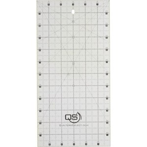 """Quilters Select QS-RUL6X12 6"""" x 12"""" Non-Slip Deluxe Quilting Ruler"""