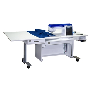 """Horn 9100 New Heights 29-40"""" Adjustable Sewing Cabinet 53x73"""" 260Lb +Drop Leaf, 3Position Electric Lift Platform for Largest Machines, 31x15.5""""Opening"""