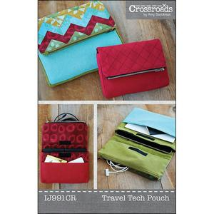 Indygo Junction IJ991CR Crossroads Tech Travel Pouch Sewing Pattern