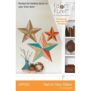 Indygo Junction IJFP203 Fabriflair Wall Art Stars Pattern