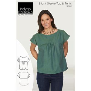 Indygo Junction IJ1165E Slight Sleeve Top and Tunic Sewing Pattern