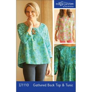 Indygo Junction IJ1110 Gathered Back Top and Tunic Sewing Pattern