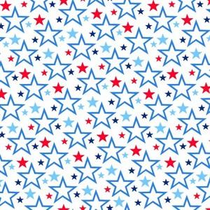 EE Schenck Stars & Stripes Forever SEF5831-07 Tossed Stars White