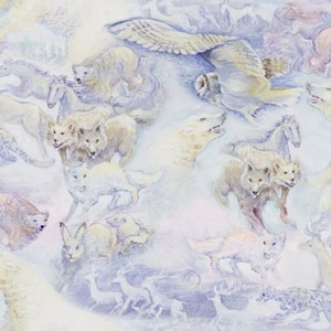 3 Wishes Fabric Polar Journey 3WI17982-MLT-CTN-D Animal Flight- Multi