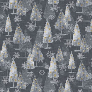 EE Schenck Sophisticated Christmas PNBSOPC-4421-S	All Over Trees/Snowflakes